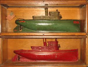 1928 Buddy L Tugboat, First Buddy L Tugboat Flag with original flag & falgstaff ever discovered. Original Buddy L Tugboat motor Buying buddy l toys Visit us today